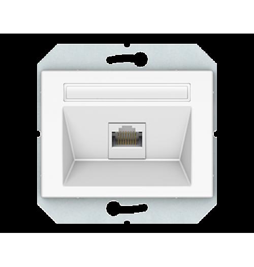 Kompiuterio lizdas 1 v. (1xRJ45 CAT5E UTP) KLRJ45-15e2-02 XP500 WW