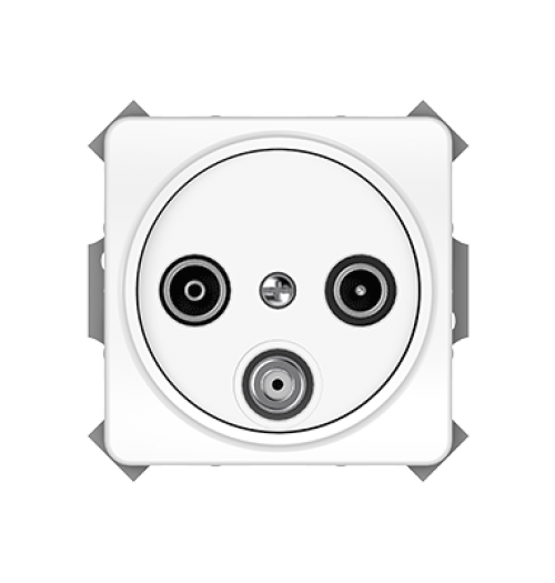 Antenos lizdas (TV+R+SAT galinis) TVL03-02 LX200 WW