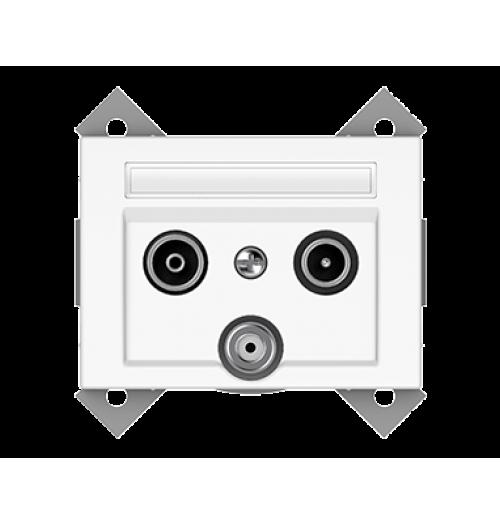 Antenos lizdas (TV+R+SAT galinis) TVL03-02 XP500 WW