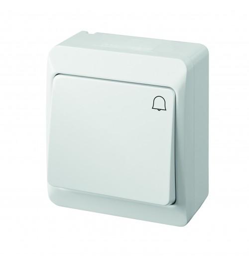 Skambučio mygtukas IP44 HERMES balta sp.