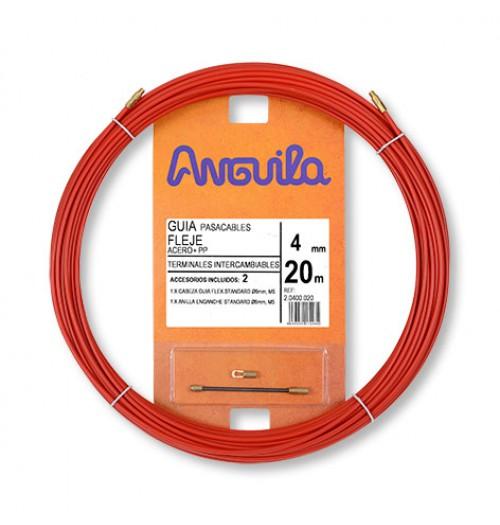 Kabelio pratraukiklis ANGUILA 4mm 20m (plokščias plienas, dengtas PP)