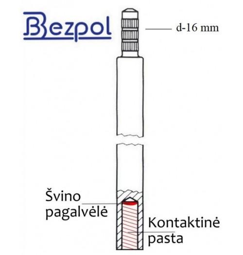 Cinkuotas įžeminimo elektrodas D16, 1500mm (Bezpol)