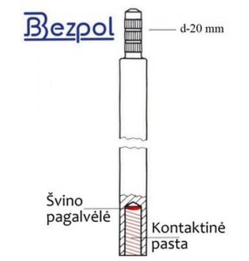 Cinkuotas įžeminimo elektrodas D20, 1500mm (Bezpol)