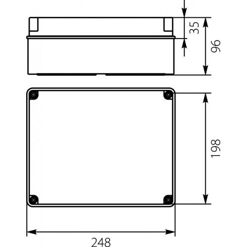 Paskirstymo dėžutė PH-4A.1 248x198x96