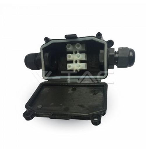 Jungtis maitinimo kabeliui juoda (PG9 sandarikliai)