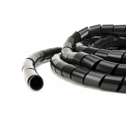 Spiralinis vamzdis kabelių apsaugai Ø10 juodas