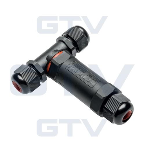 Jungtis maitinimo kabeliui juoda WZL-3 (2xM20 ir M22 sandarikliai)