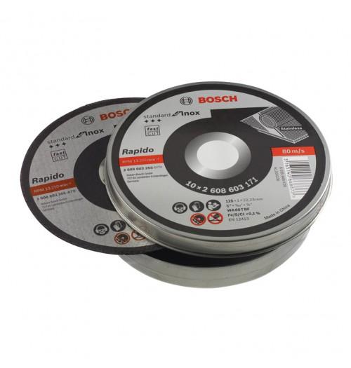 Abrazyvinių metalo pjovimo diskų rinkinys BOSCH RAPIDO 125x1.0x22.23