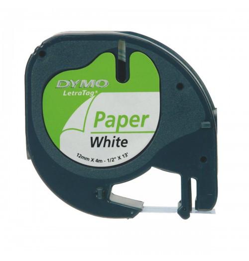 DYMO LetraTag aparato popierinė spausdinimo juostelė 12mm x 4m
