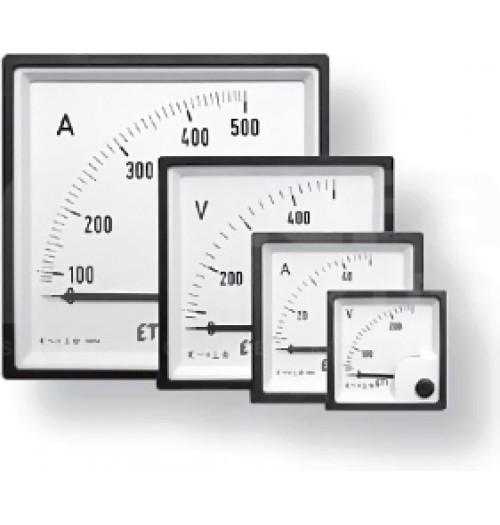 Tiesioginio jungimo panelinis ampermetras ETI EQ72 72x72 15A
