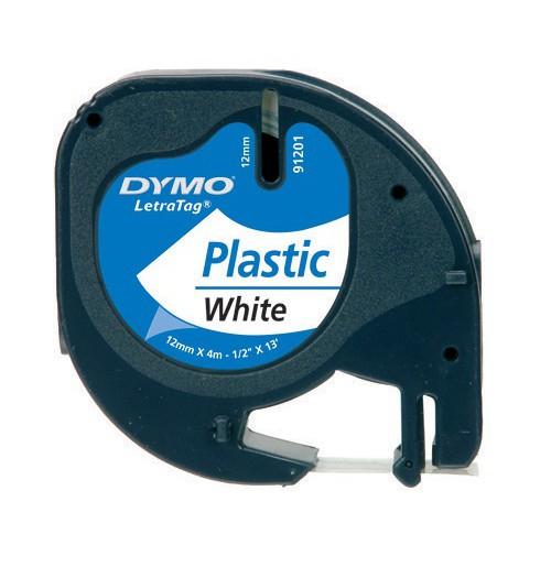 DYMO LetraTag aparato plastikinė spausdinimo juostelė 12mm x 4m