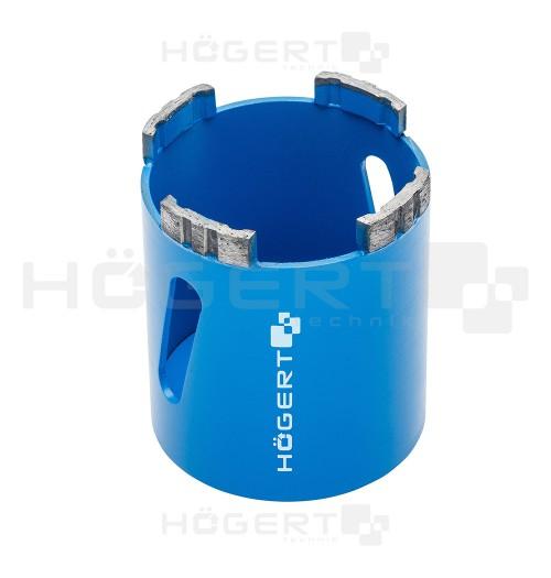 Deimantinė segmentinė gręžimo karūna mūrui (be nusiurbimo) Hogert HT6D478 Ø82mm