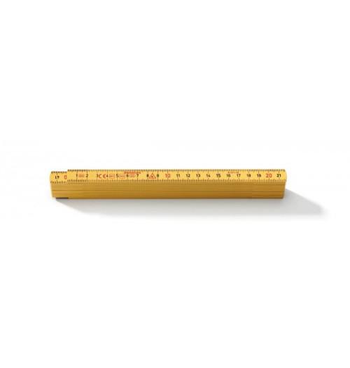 Sulankstoma stiklo pluošto liniuotė Hultafors G59-2-10, 10 segmentų, 2 metrai, geltona
