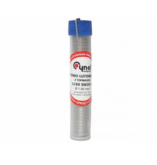 Lydmetalis Sn60/Pb40 1.0mm 16g su fliusu Cynel