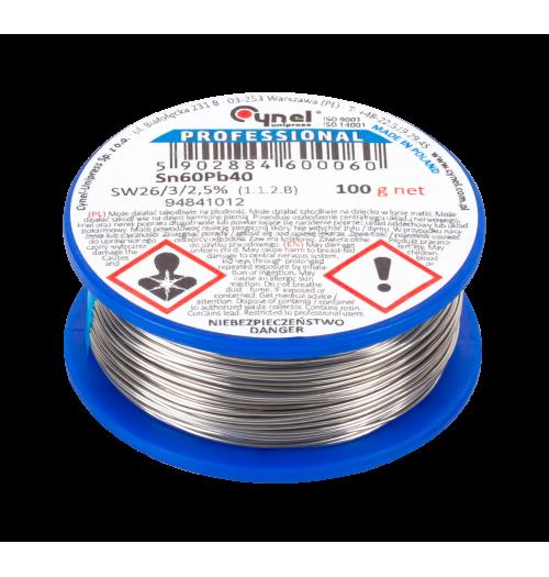 Lydmetalis Cynel 0.5mm 100g Sn60/Pb40, 2.5% SW26 fliuso