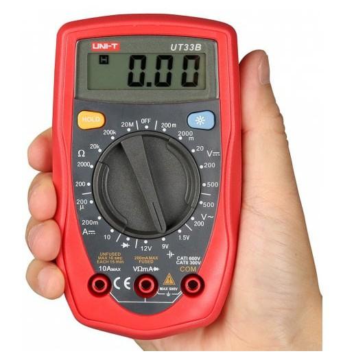 Multimetras UNI-T UT33B su diodų tikrinimo funkcija