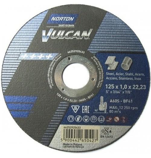Abrazyvinis metalo pjovimo diskas NORTON 125x1.0x22.23
