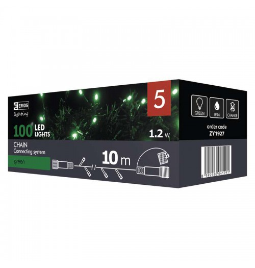 EMOS CONNECT girlianda 100LED 10m IP44 žalia ZY1927