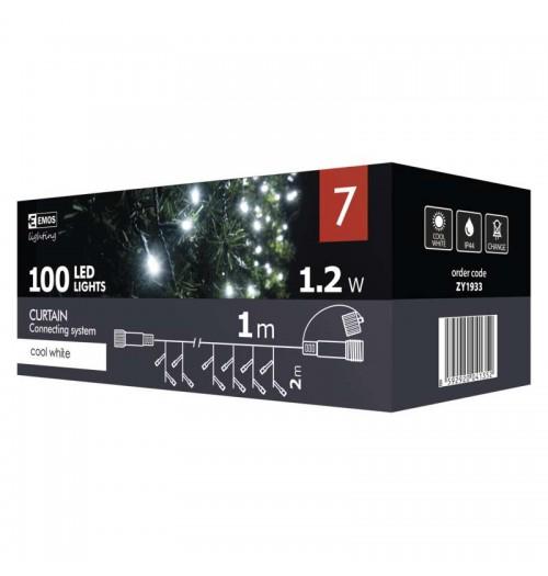 EMOS CONNECT girlianda - užuolaida 100LED 1m IP44 šaltai balta ZY1933