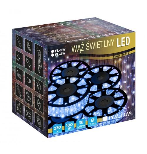 LED šviečiantis kabelis NK1 36LED/m mėlynos spalvos