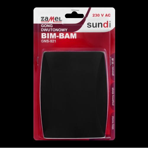 Elektromechaninis skambutis GNS-921 BIM-BAM, juodos spalvos