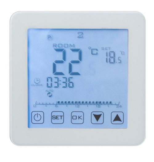 Programuojamas savaitinis termostatas Heber HT-125 baltos sp.