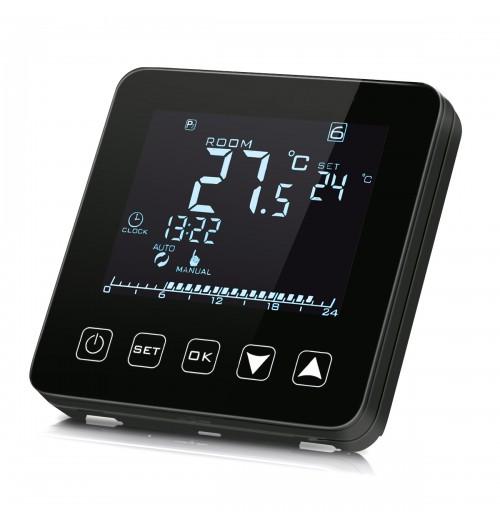 Programuojamas savaitinis termostatas Heber HT-125B juodos sp.