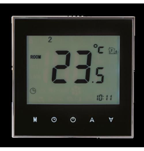 Programuojamas savaitinis termostatas Zamel RTD-02 juodos sp.