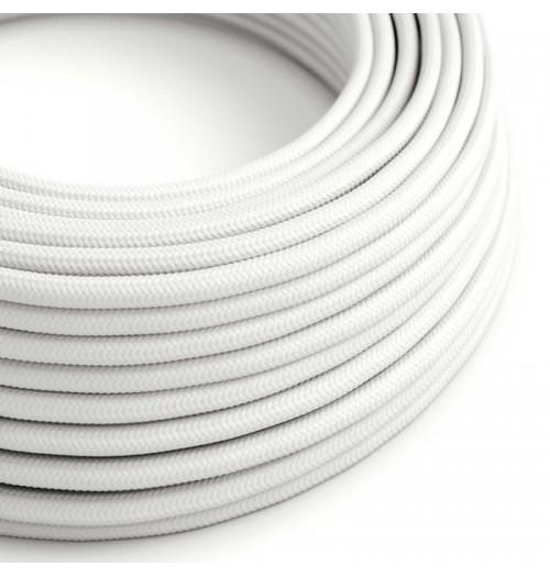 Šviestuvo kabelis medžiagine izoliacija 2x0.75mm² baltas