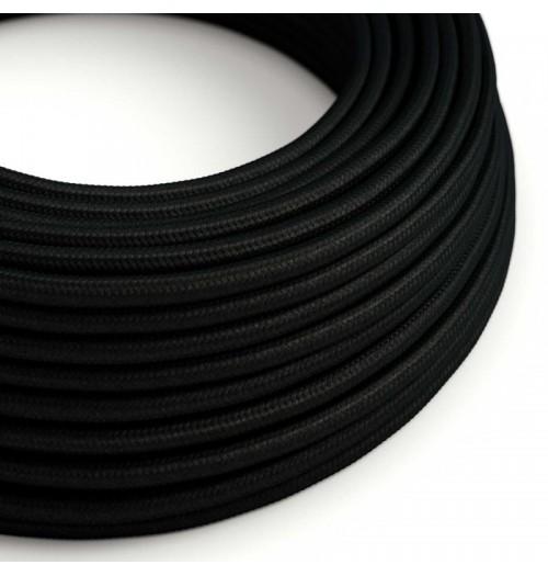 Šviestuvo kabelis medžiagine izoliacija 2x0.75mm² juodas