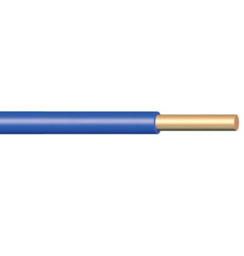 Viengyslis monolitinis laidas PV1×1.5 (H07V-U) mėlynas
