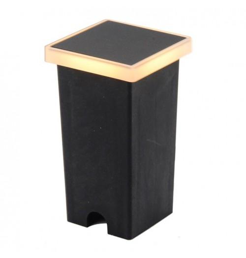 Grindinio šviestuvas Domoletti LED 2W IP65 juodos sp. kvadratinis