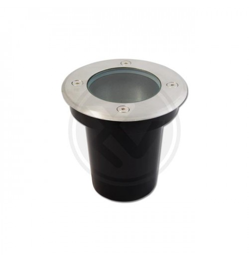 Grindinio šviestuvas MasterLED 1xGU10 IP67 m. chromo sp. apvalus