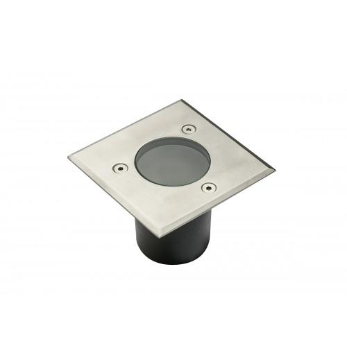 Grindinio šviestuvas GTV ALFA Mini 1xGU10 IP67 m. chromo sp. kvadratinis