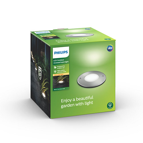 Grindinio šviestuvas Philips Moss LED 3W IP67 m. chromo sp. apvalus