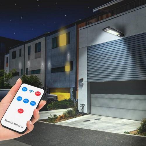 Saulės energija pakraunamas LED šviestuvas, 30W, 5500K, 2000lm, su jud. davikliu