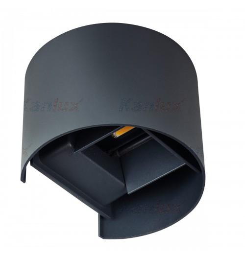 Sodo šviestuvas Kanlux REKA 1x7W 4000K LED IP54, apvalus, antracito sp.