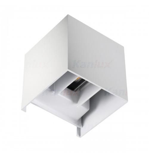 Sodo šviestuvas Kanlux REKA 1x7W 4000K LED IP54, kvadratinis, baltos sp.
