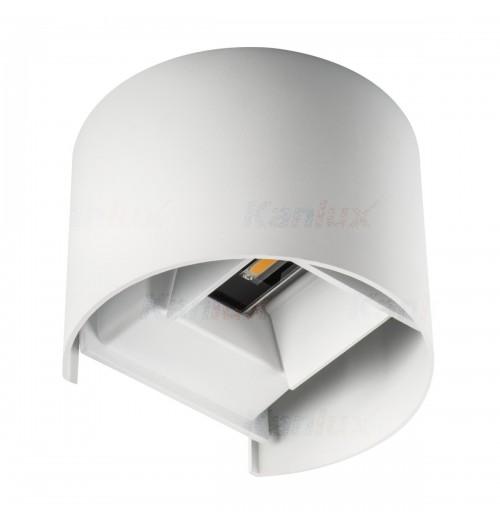 Sodo šviestuvas Kanlux REKA 1x7W 4000K LED IP54, apvalus, baltos sp.