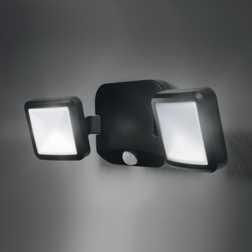 Baterijomis maitinamas LED prožektorius OSRAM 10W 4000K 480lm su jud. davikliu juodas