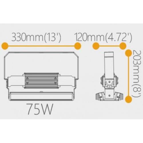 Prožektorius stadionams Variflood Gen II LED 75W, 4000K, 10500lm, dimeriuojamas 1-10V