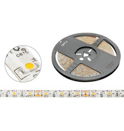 LED juosta GTV 12V 4.8W/m 60LED/m 3200K 70lm/W IP20