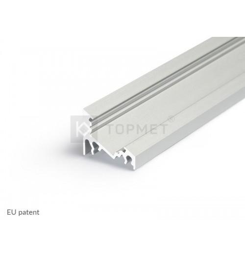 Profilis LED juostoms kampinis 30°/60° CORNER10 anoduotas, 2 m
