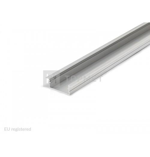 Profilis LED juostoms įleidžiamas VARIO30-06 anoduotas, 1 m
