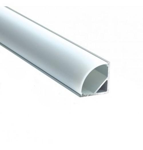 Profilis LED juostoms anoduotas SR16, 1 m