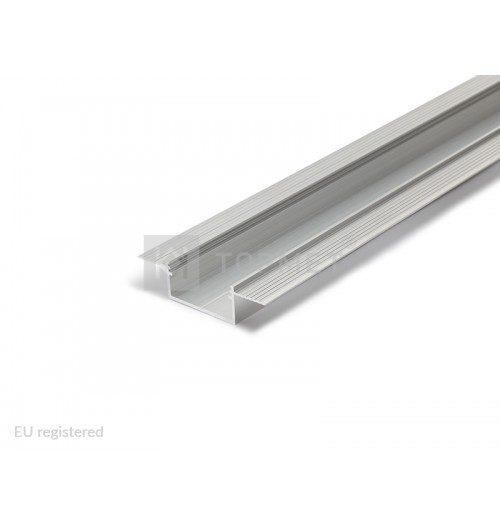 Priglaistomas profilis LED juostoms anoduotas VARIO30-04, 1 m