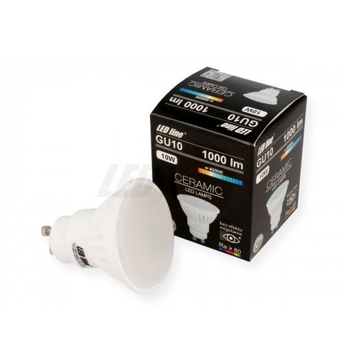 Lemputė LEDLINE GU10 10W 4000K 1000lm