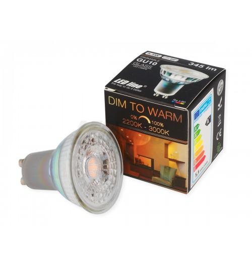 Lemputė LEDLINE GU10 5.5W DIM TO WARM