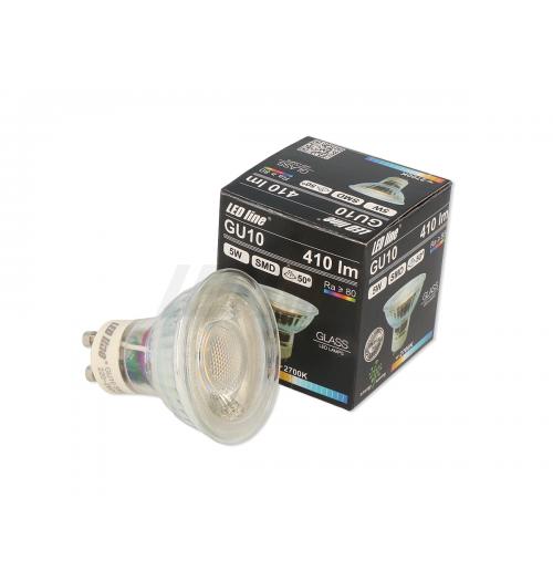 Lemputė LEDLINE GU10 5W 2700K stiklinė