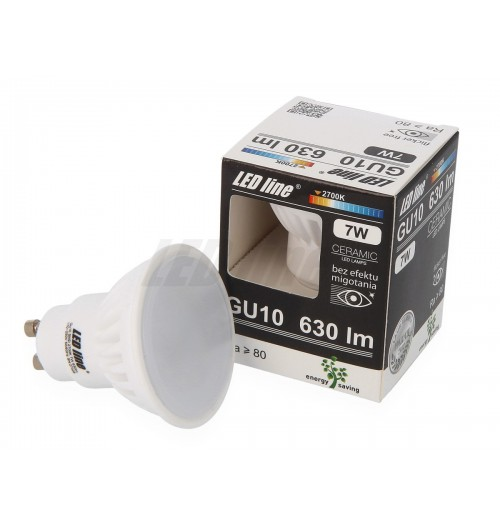 Lemputė LEDLINE GU10 7W 2700K